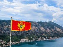 Flag of Montenegro Stock Photo
