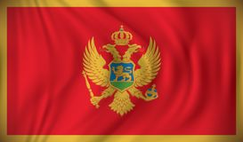 Flag of Montenegro. Vector illustration Royalty Free Stock Images