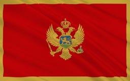 Flag of Montenegro stock illustration