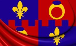 Flag of Montgomery County, Maryland. Stock Photo
