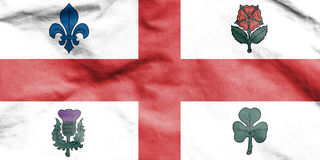 Flag of Montreal, Canada. 3d Rendered Flag of Montreal, Canada Royalty Free Stock Images