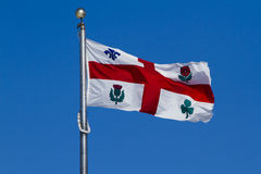 Flag of Montreal Royalty Free Stock Image