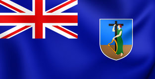 Flag of Montserrat. 3D Flag of the Montserrat. Close Up Royalty Free Stock Images
