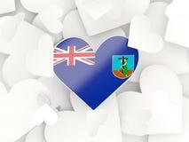 Flag of montserrat, heart shaped stickers Stock Photo