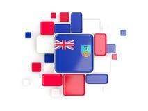 Flag of montserrat, mosaic background Stock Images