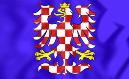 Flag of Moravia, Czech Republic. Royalty Free Stock Photos