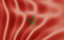 Flag Of Morocco Royalty Free Stock Photo