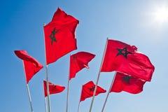 Flag Morocco Casablanca Stock Photo