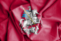 Flag of Moscow, Russia. Royalty Free Stock Image