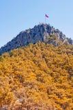 Flag on the mountain Royalty Free Stock Photo