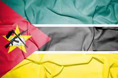 Flag of Mozambique. 3d rendered flag of Mozambique Royalty Free Stock Images