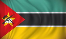 Flag of Mozambique. Vector illustration Stock Image