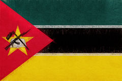 Flag of Mozambique Grunge. Stock Images