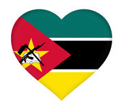 Flag of  Mozambique Heart Royalty Free Stock Images