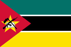 Flag of Mozambique. Illustration of the national flag of Mozambique Stock Images