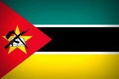 Flag of Mozambique. National flag of the Republic of Mozambique - background Stock Images