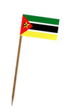 Flag of Mozambique. Tooth pick wit a small paper flag of Mozambique Stock Photo
