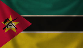 Flag of Mozambique. Vintage background with flag of Mozambique. Grunge style Royalty Free Stock Images