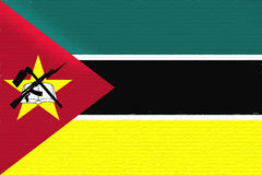 Flag of Mozambique Wall. Royalty Free Stock Photos