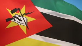 Flag of Mozambique stock illustration