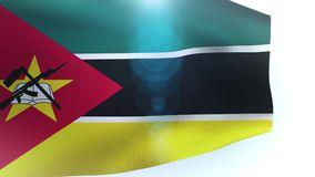 Flag of Mozambique waving in the wind. Video stock video