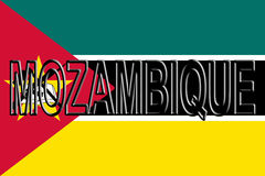 Flag of Mozambique Word. Stock Photo