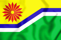 Flag of Mpumalanga Province, South Africa. 3D Illustration. 3D Flag of Mpumalanga Province, South Africa. 3D Illustration Royalty Free Stock Photos