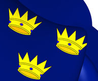 Flag of Munster, Ireland. Close Up Stock Images