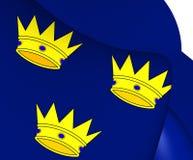 Flag of Munster, Ireland. Stock Images
