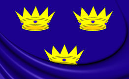 Flag of Munster Province, Ireland. 3D Flag of Munster Province, Ireland. Close Up Stock Photo