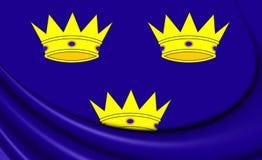 Flag of Munster Province, Ireland. Stock Photo
