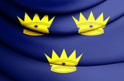 Flag of Munster Province, Ireland. 3D Flag of Munster Province, Ireland. Close Up Royalty Free Stock Image