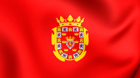 Flag of Murcia City, Spain. Stock Image