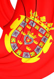 Flag of Murcia City, Spain. Royalty Free Stock Photo