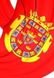 Flag of Murcia City, Spain. 3D Flag of Murcia City, Spain. Close Up Royalty Free Stock Photo