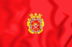 Flag of Murcia City, Spain. 3D Illustration. 3D Flag of Murcia City, Spain. 3D Illustration Royalty Free Stock Photos