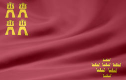 Flag of Murcia - Spain. Very large flag of the spanish province of Murcia Stock Image