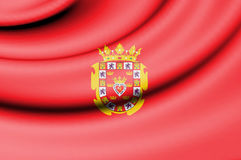 Flag of Murcia, Spain. Stock Photos