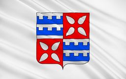 Flag of Muret, France. Flag of Muret is a commune in the Haute-Garonne department, of which it is a subprefecture, in the Midi-Pyrenees region of southwestern royalty free illustration