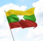 Flag of Myanmar Burma Royalty Free Stock Images