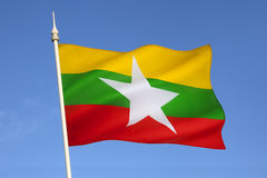 Flag of Myanmar (Burma) Royalty Free Stock Photos