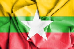Flag of Myanmar. 3d Rendered Flag of Myanmar Stock Photography