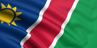 Flag Of Namibia. 3d rendered and waving flag of namibia Stock Image