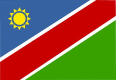 Flag of Namibia Royalty Free Stock Image