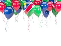 Flag of namibia on balloons Royalty Free Stock Image