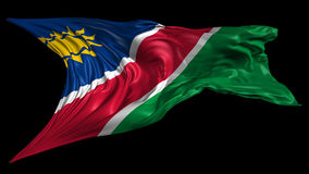 Flag of Namibia stock footage
