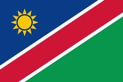 Flag of Namibia. Vector illustration. World flag Royalty Free Stock Photo