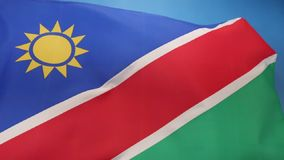 Flag of Namibia Stock Photos