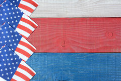 Flag Napkins on Patriotic Table Royalty Free Stock Photos