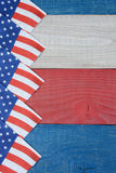 Flag Napkins on Patriotic Table Vertical Royalty Free Stock Image